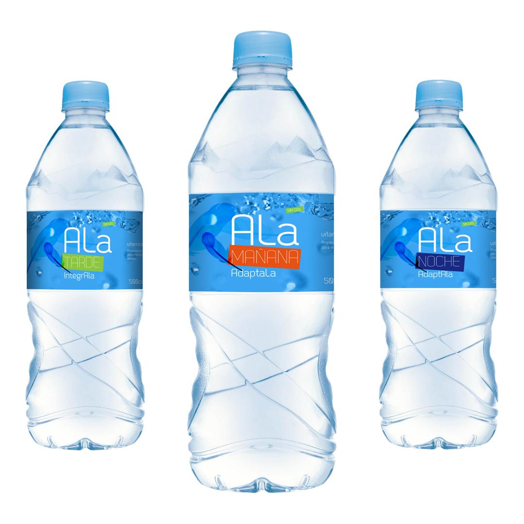 Prototipos botellas edición diseño agua mineral uruguay ala