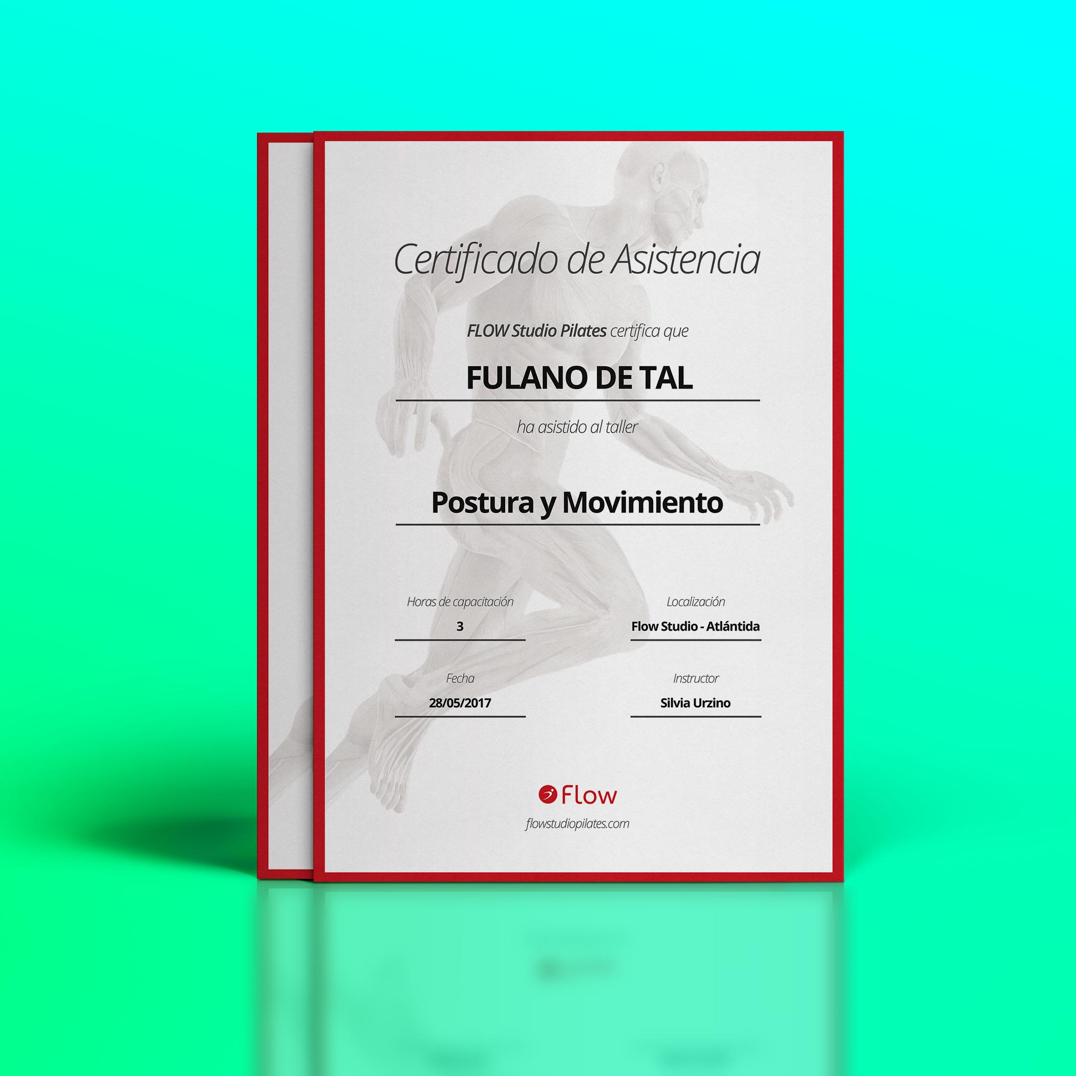 Certificado asistencia