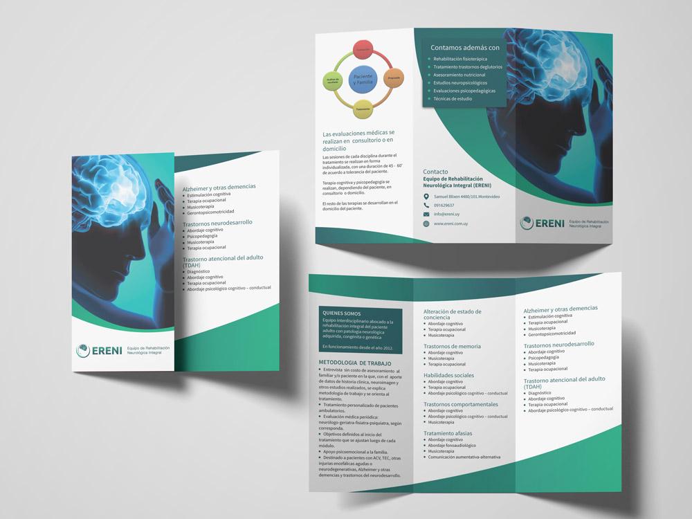 tríptico diseño imprenta