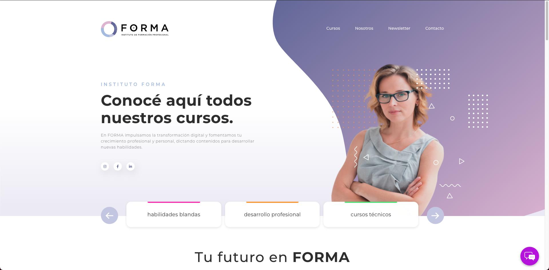 sitio web FORMA